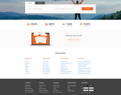 Redesign jobs Website Home page Design