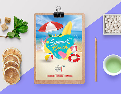 Summer Menu Design