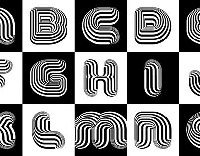 Optical Dillusion Font