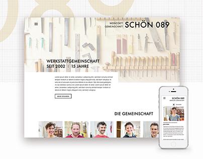 Schön 089, Website, Portfolio, carpenter
