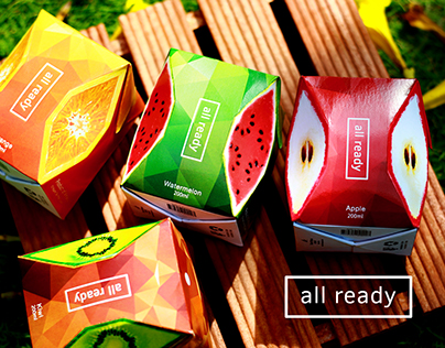All ready's Packaging - Fruit juice (concept)