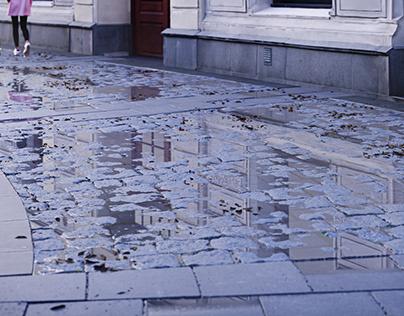 CGI - Street after rain