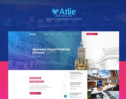Atlie - Landing page