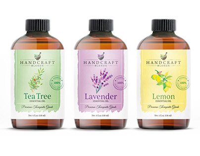 Essential oil, labels design