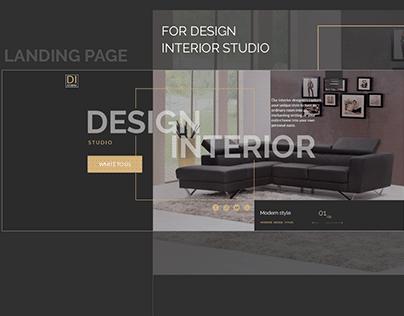 Design Interior studio - Landing page