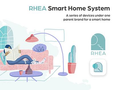 RHEA Smart Home System | Branding, UI/UX