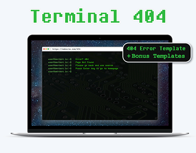 Terminal 404 – Page Not Found HTML Template