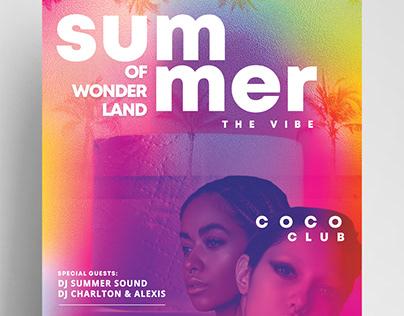 Summer Wonderland Free PSD Flyer Template