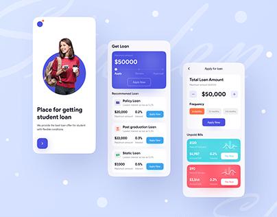 Loan App UI Exploration ❤️ ✅