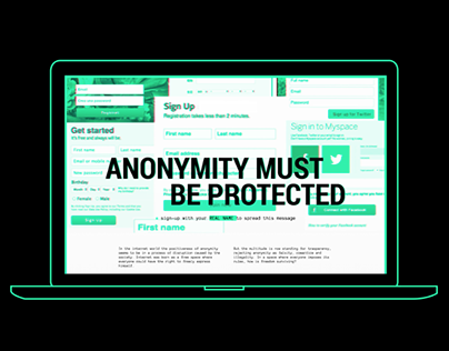 Anonymity must be protected   Interactive storytelling