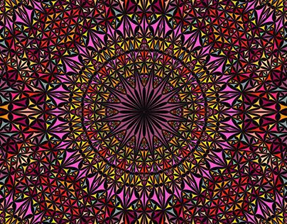 FREE Vector: Seamless Kaleidoscope Mandala Pattern