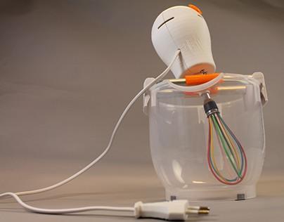 3D printed mini hand blender