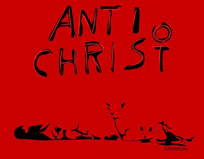 Anti Christ Vector Art Illustration