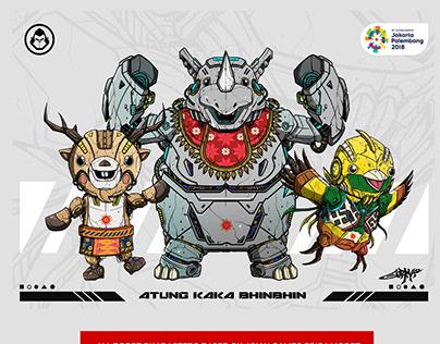 Asian Games 2018 mascot Robot version