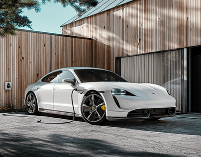 Porsche Taycan x Zaptec Go - Full CGI