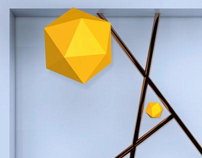 Icosahedron poster