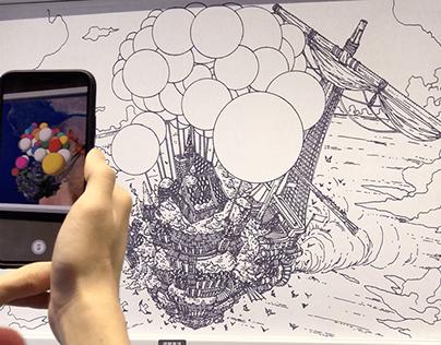 AR animation on illustration