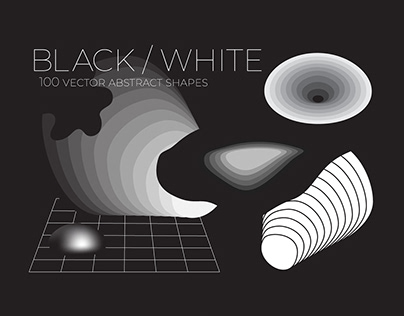 B_W 100 Vector Abstract Shapes