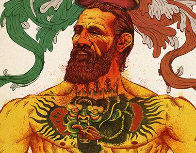 Portrait of Conor McGregor