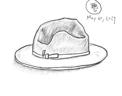 Quick sketch of a hat