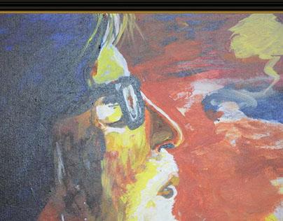 Amitabh Bachchan Painting