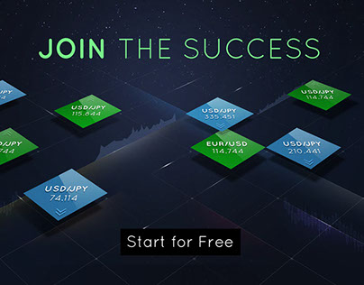 Website template for Binary Options company