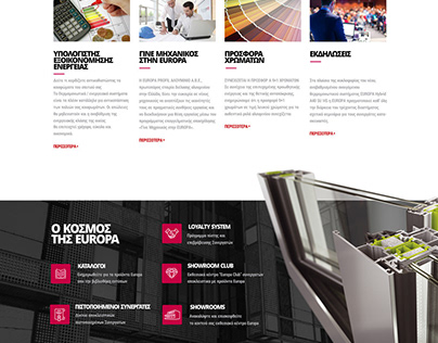 WEB DESIGN • Europa window systems