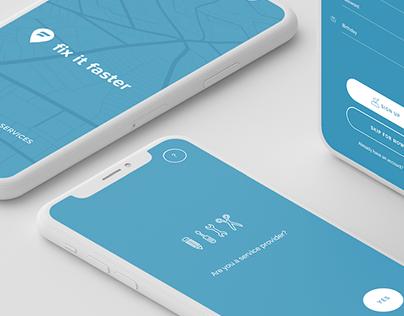 Fix It Faster – Advertising, UX/UI, Print Design, Copy