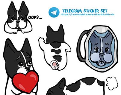 SilentButErnie Telegram Stickers Set