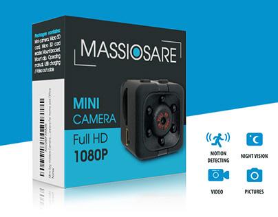 Massiosare Mini Camera - Package Design
