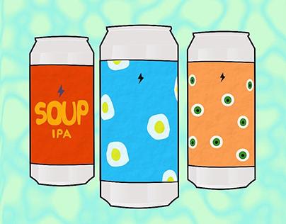 Craft Beer Cans Illustration inspired by Garage Beer Co