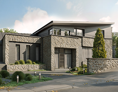 Exterior visuals for a project in Dalkey, Old Quarry