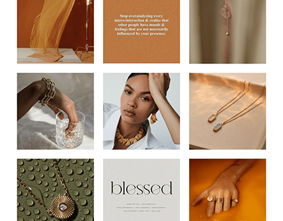 Visual concept for jewelry brand