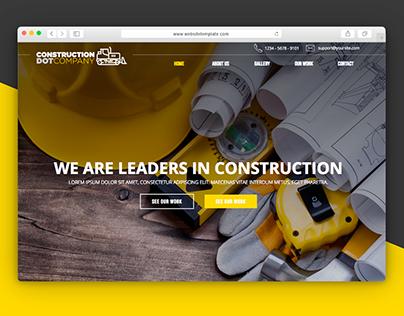 Construction Website 🚜 - UI practice