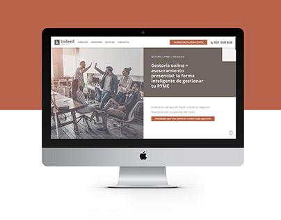 Diseño web Indeed Asesores