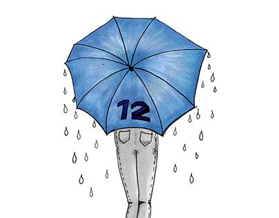 12th Woman Umbrella