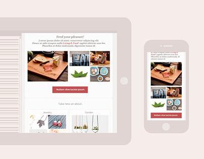 Craftmebaby | Ui & UX e-commerce + newsletter