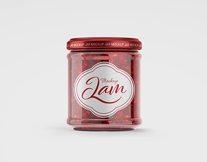 Jar mockup in PSD
