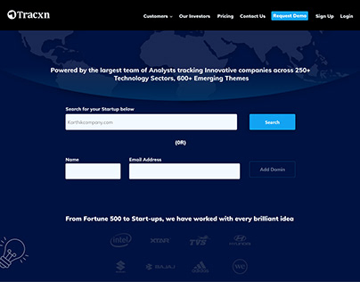 created website for start up company to add domin