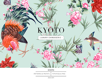 Kyoto, Exquisite Chinoiserie Designs!