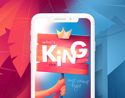Who's the king — swiping game design and illustrations