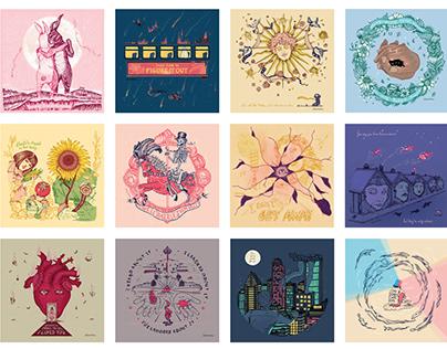 Illustrated Songs Calendar 2020