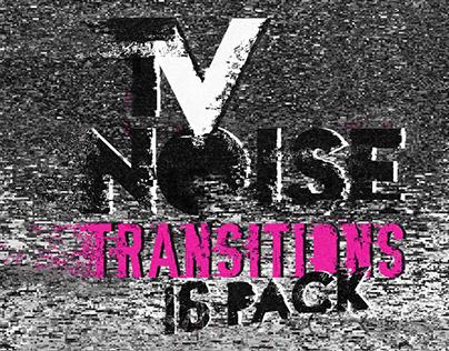 Tv Noise Alpha Matte Transitions Pack - Motion Graphics