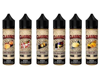 Classico Label Design (Vape Juice)