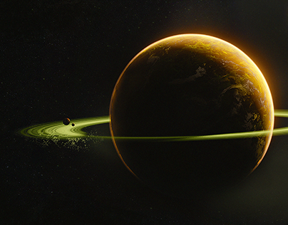 Concept art of planets