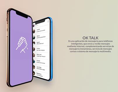 Maquetado OK TALK. con html5 y css3 / Sass