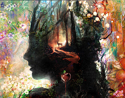 Snow White dark surrealism art abstract