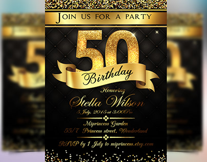 Birthday Party Invitation Flyer
