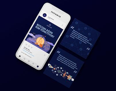 Coin Club Social Media design