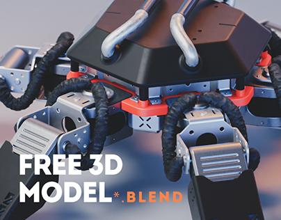Crabot - Free 3D model